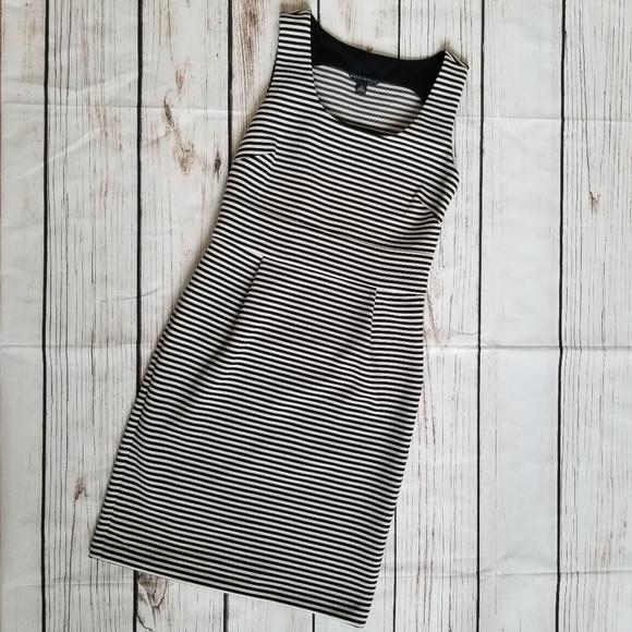 297081df5a9b Banana Republic Dresses | Black White Stripe Dress Size 6 | Poshmark